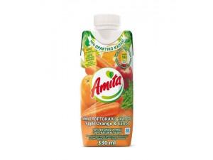 Amita μηλο καροτο πορτοκαλι 330ml